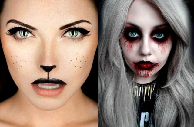 13 spooky halloween makeup ideas for girls on the go no costume required