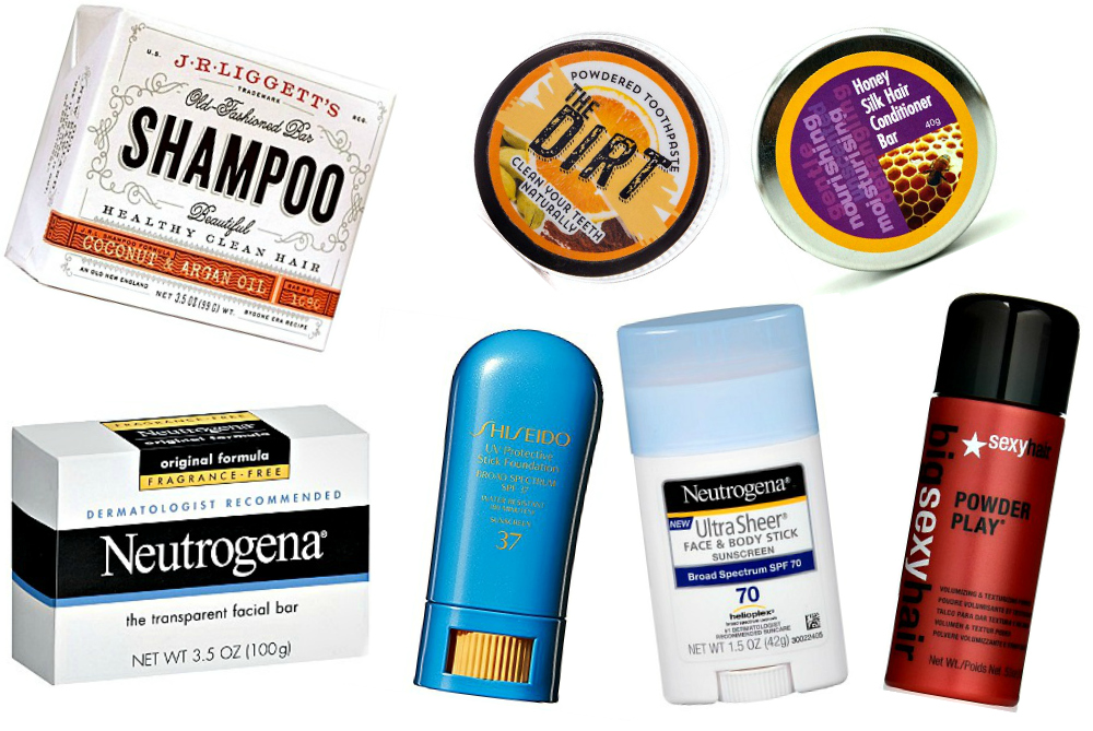 Don't Worry About TSA Approved Liquids with these Solid Toiletries for Travel