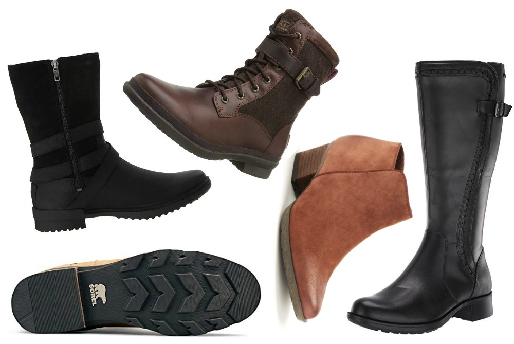 Womens Waterproof Leather Boots for the Autumn Rain and Winter Snow