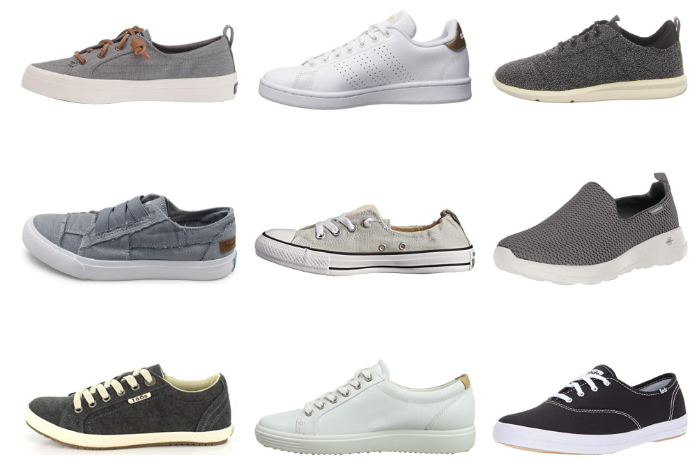 10 Travel-Friendly Womens Casual Sneakers
