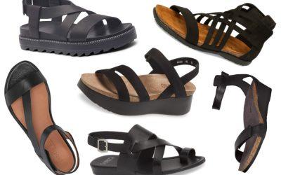 13 Best Black Sandals for Women