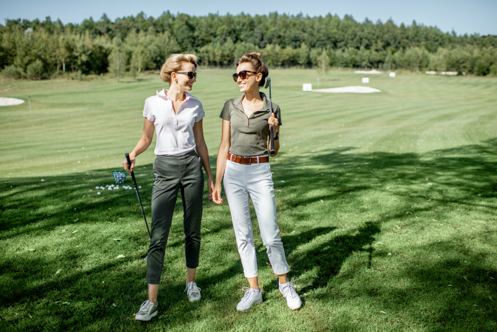 16 Stylish Womens Golf Pants That Hold Up Under Pressure on the Green